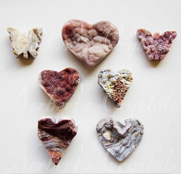 Achát szív-pillangó