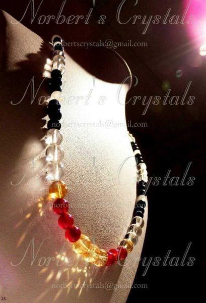 kristály nyakék