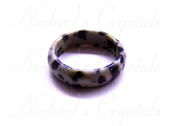 dalmata jáspis gyűrű